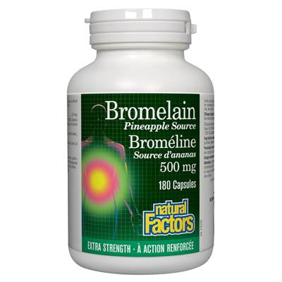 Natural Factors Bromelain Extra Strength Pineapple Source 500mg 180 Capsules