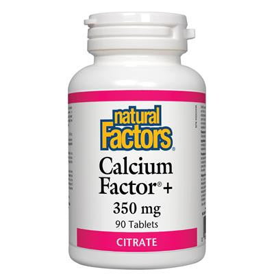 Natural Factors Calcium Factor+ 350mg Citrate 90 Tablets