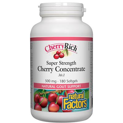 Natural Factors CherryRich Super Strength Cherry Concentrate 500 mg 180 Softgels