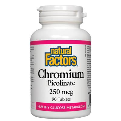 Natural Factors Chromium Picolinate 250mcg 90 Capsules