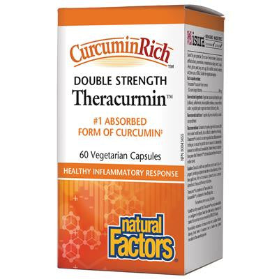 Natural Factors CurcuminRich Theracurmin Double Strength 60 mg 60 VCapsules