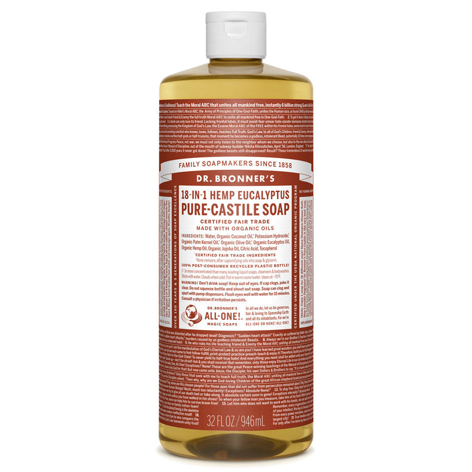 Dr. Bronner's Eucalyptus Pure-Castile Liquid Soap 946 ml