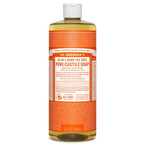 Dr. Bronner's Tea Tree Pure-Castile Liquid Soap 946 ml