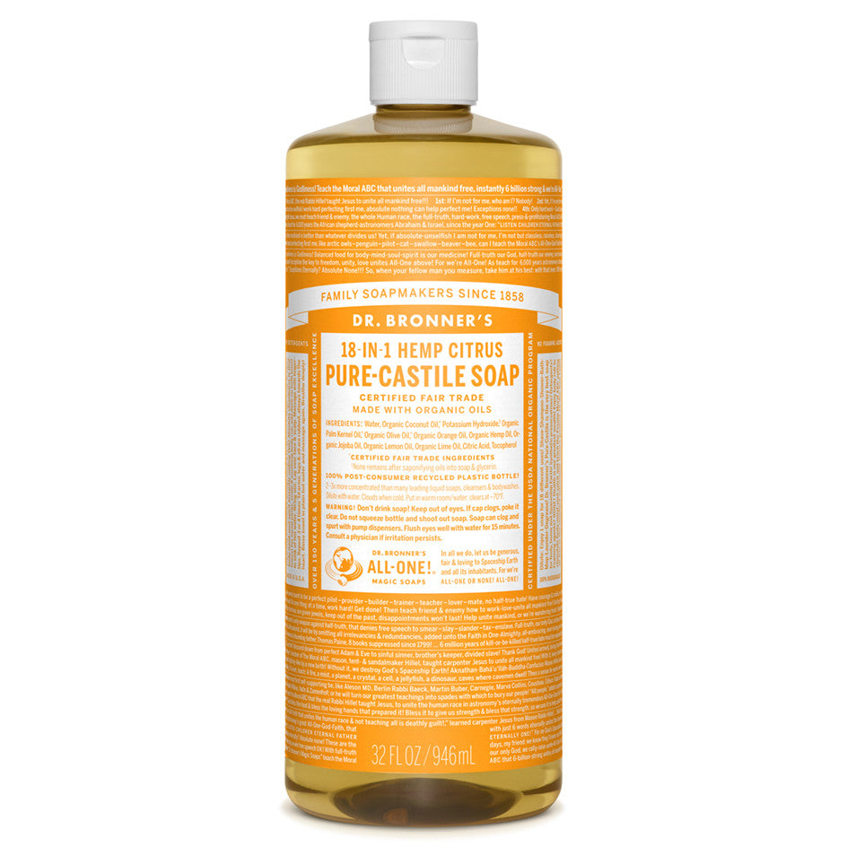 Dr. Bronner's Citrus Pure-Castile Liquid Soap 946 ml