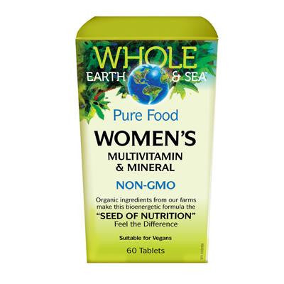 Natural Factors Women's Multivitamin & Mineral, Whole Earth & Sea™ 60 Tablets