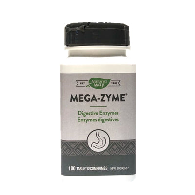 Nature's Way Mega-Zyme 100 Tablets