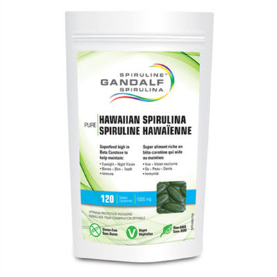 Gandalf Hawaiian Spirulina 1000mg 120 Tabs