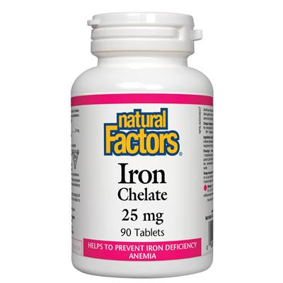 Natural Factors Iron Chelate 25mg 90 Tablets