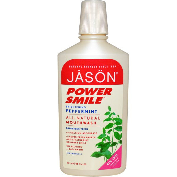 Jason Natural Powersmile Peppermint Mouthwash 473 ml