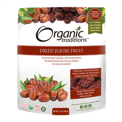 Organic Traditions Dried Jujube Fruit 340g