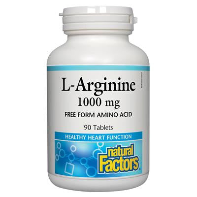 Natural Factors L-Arginine 1000 mg 90 Tablets