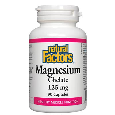 Natural Factors Magnesium Chelate 125 mg 90 Capsules