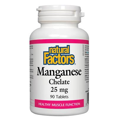 Natural Factors Manganese Chelate 25 mg 90 Tablets