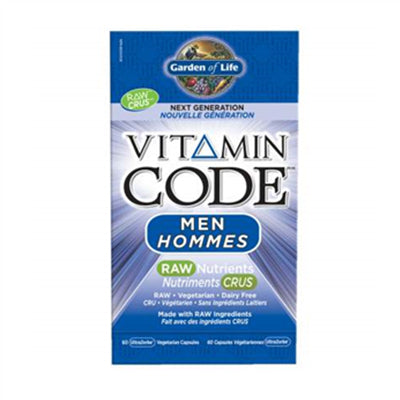 Garden of Life Vitamin Code Raw Men 60 VCapsules