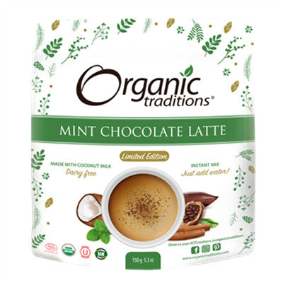 Organic Traditions Mint Chocolate Latte Limited Edition 150g