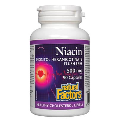 Natural Factors Niacin Inositol Hexanicotinate 500 mg 90 Capsules