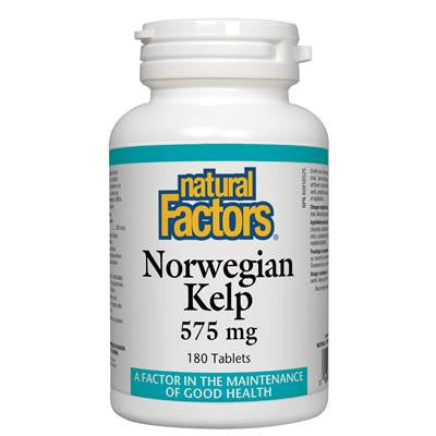Natural Factors Norwegian Kelp 575 mg 180 Tablets