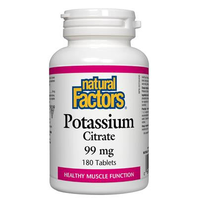 Natural Factors Potassium Citrate 99 mg 180 Tablets