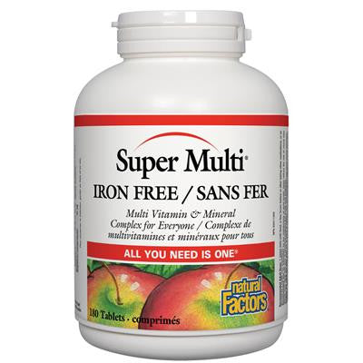 Natural Factors Super Multi® Iron Free 180 Tablets
