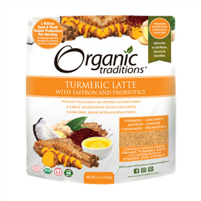 Organic Traditions Latte - Turmeric with Saffron and Probiotic 150g