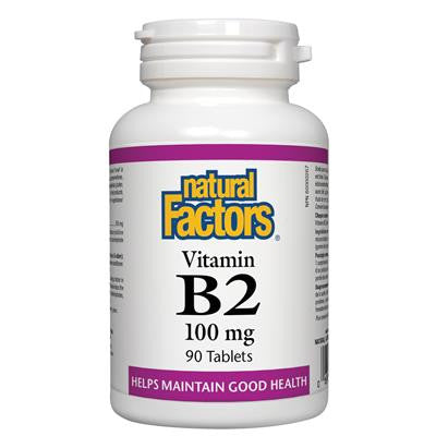 Natural Factors Vitamin B2 100 mg 90 Tablets