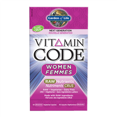 Garden Of Life Vitamin Code Raw Women 60VCapsules