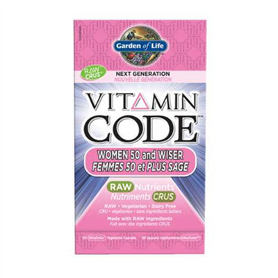 Garden of Life Vitamin Code Raw Women 50 & Wiser 60 VCapsules