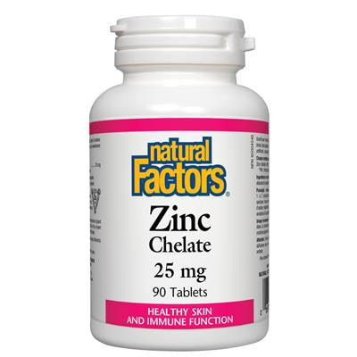 Natural Factors Zinc Chelate 25 mg 90 Tablets