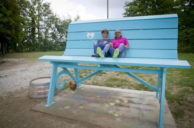 The giant benches that make adults feel like children