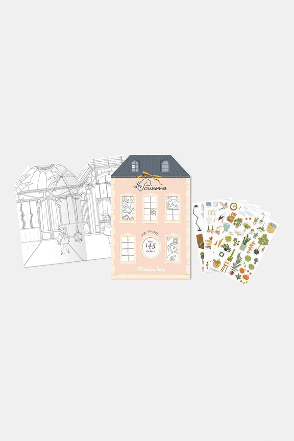 Les Parisiennes Parisian Colouring Book with 145 Stickers