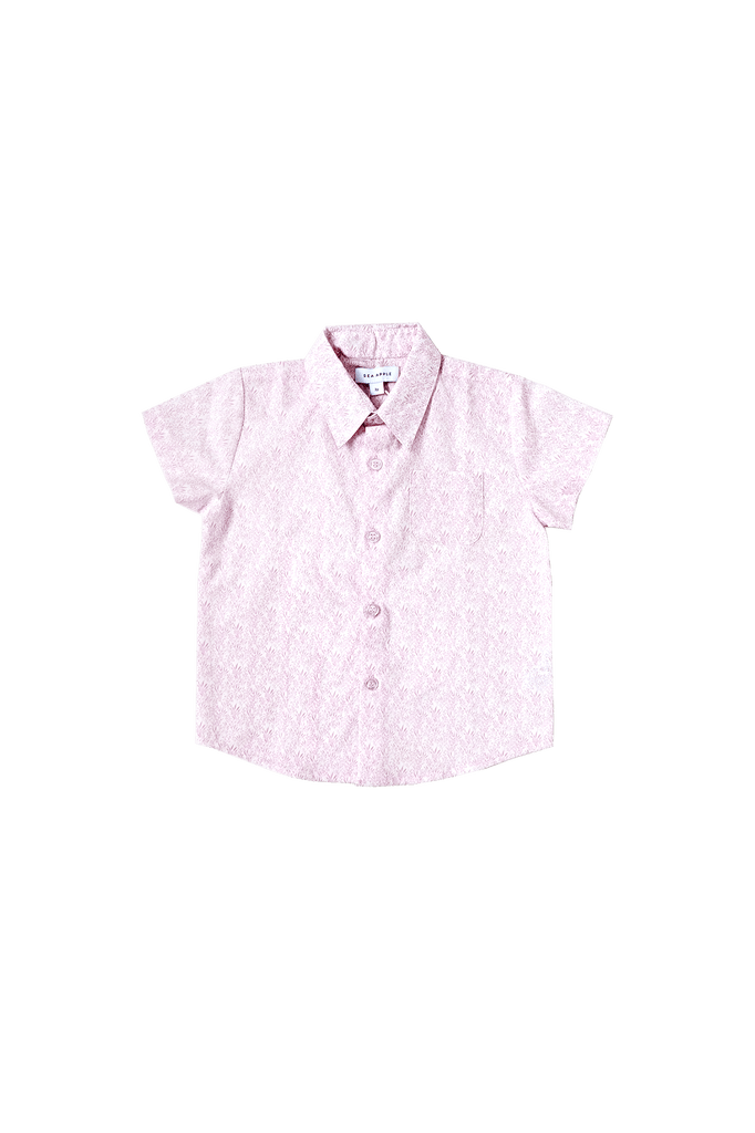 Cotton Rose Collared Shirt