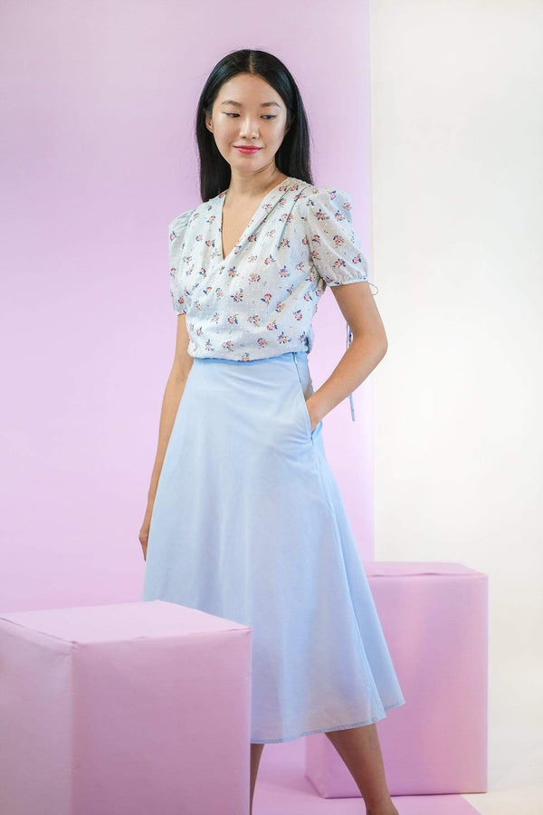 Sea Apple DAINTY SWISS DOT PLEATED TOP & SKIRT SET