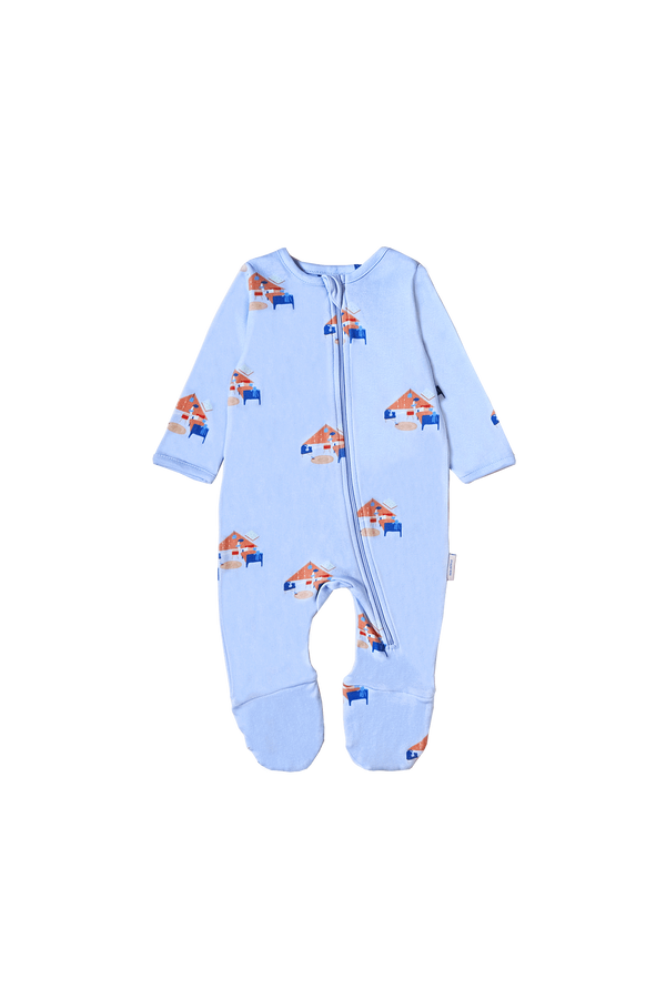 Sea Apple One Pieces Goodnight Room Periwinkle Pyjamas Footed Onesie
