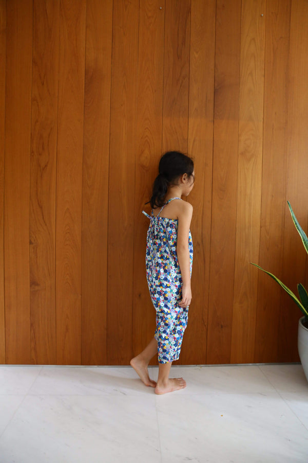 Sea Apple Overalls Colorful Garden Jumpsuit