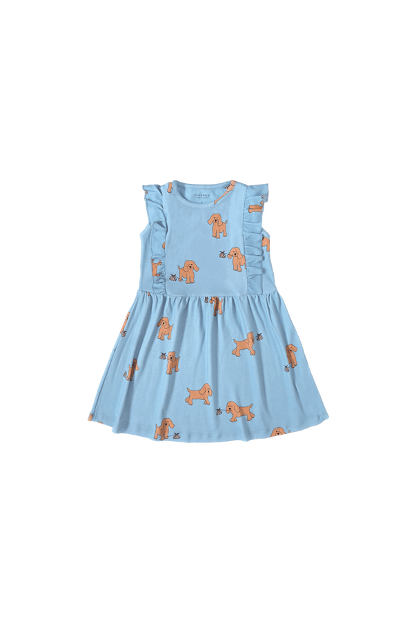 Runaway Dog Blue Casual Ruffled Dress