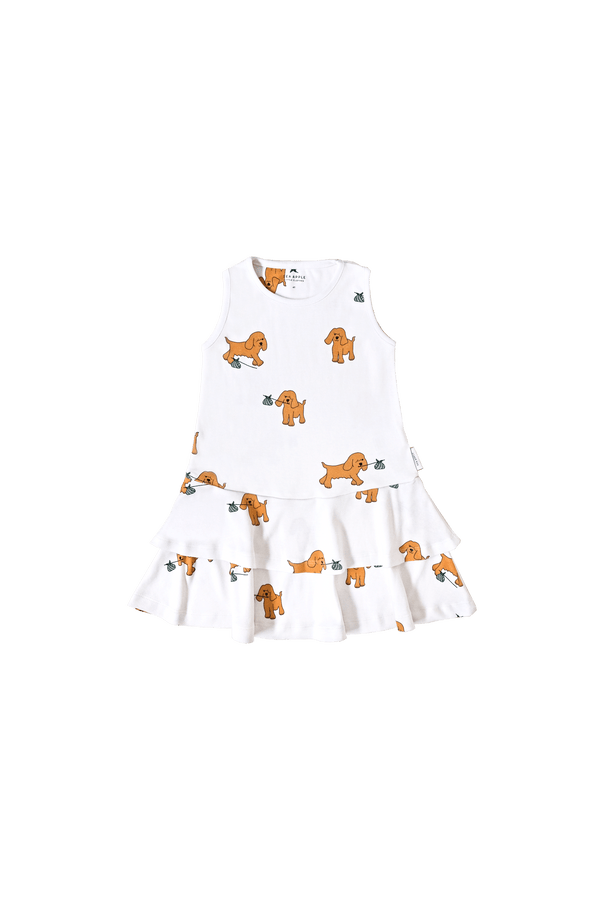 RUNAWAY DOG IVORY SLEEVELESS DRESS
