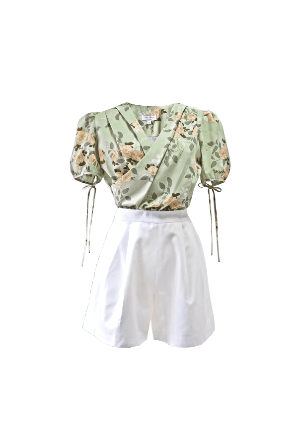 SECRET GARDEN PLEATED TOP & SHORTS SET