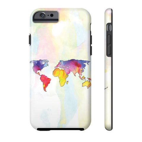 Gorgeous Watercolor World Map Phone Case - Harmless Habit - 1