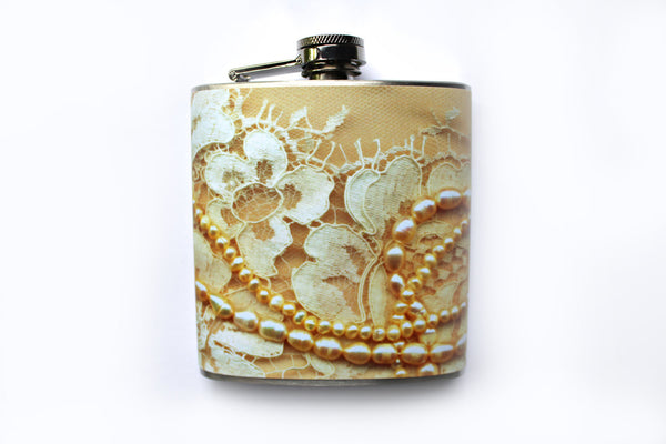 Lace Dress Print Flask - Harmless Habit - 1
