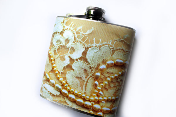 Lace Dress Print Flask - Harmless Habit - 2