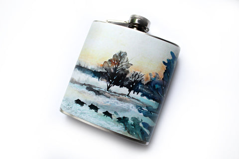 Winter Painting Flask - Harmless Habit - 1