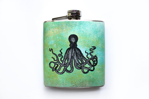 Octopus on Green Flask - Harmless Habit - 1