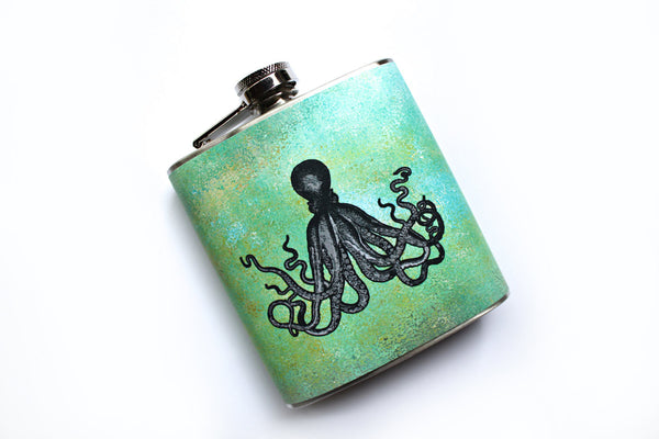 Octopus on Green Flask - Harmless Habit - 2