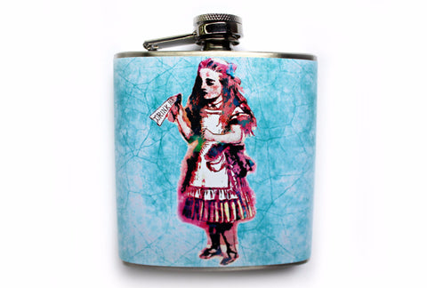 "Alice in Wonderland ""Drink me"" Flask - Harmless Habit - 1"