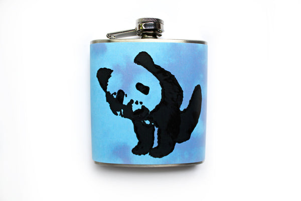 Blue Tie Dye Panda Flask - Harmless Habit - 1