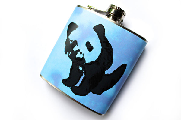 Blue Tie Dye Panda Flask - Harmless Habit - 2