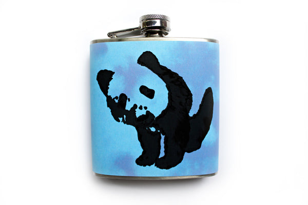 Blue Tie Dye Panda Flask - Harmless Habit - 3