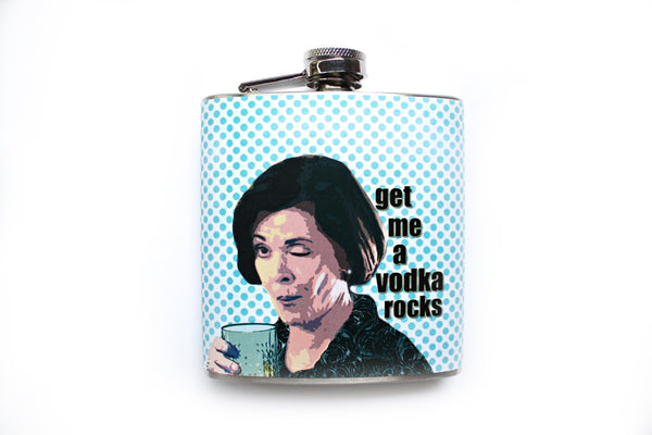 Lucille Bluth is My Hero Arrested Development Flask - Harmless Habit - 1