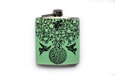 Birds and Trees Botanical Art Flask - Harmless Habit - 1