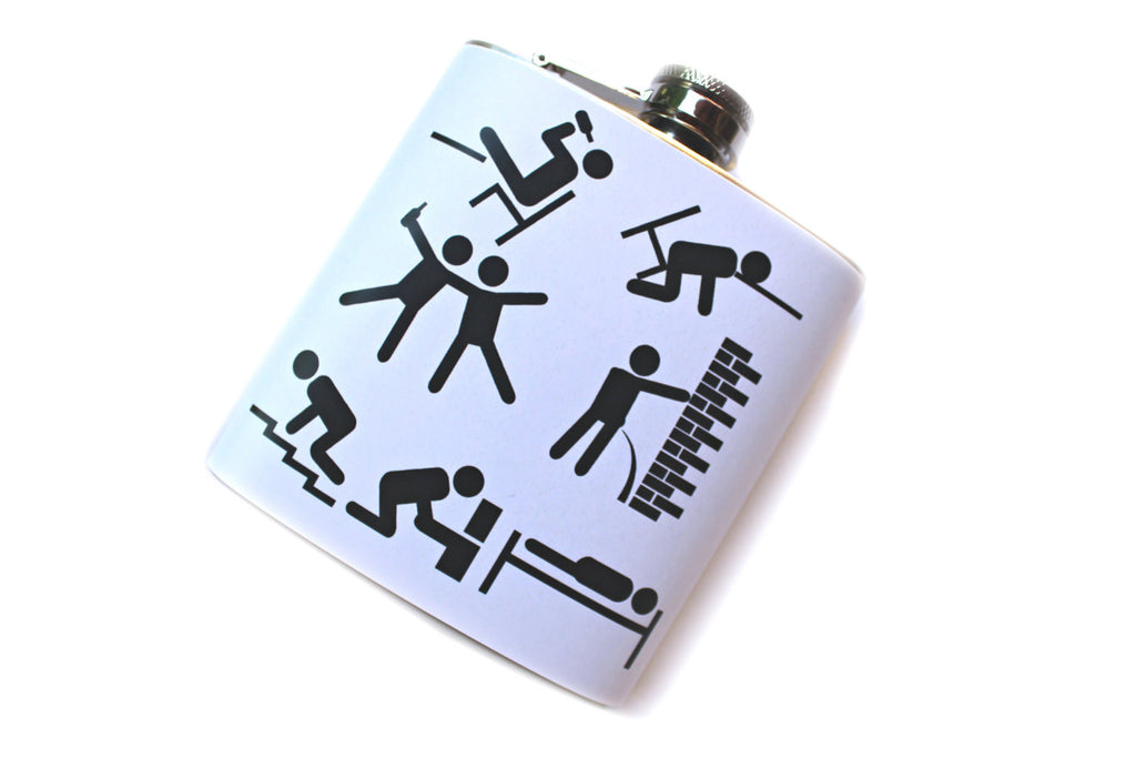 Drunken Timeline Funny Flask - Harmless Habit - 1